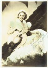 Loretta Young Autograph Photo
